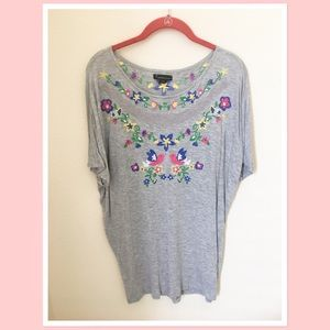 Forever 21 gray top size L